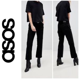 Asos Dr Denim Mid Rise Cropped Flare Jeans